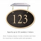 Salsbury 1335BGH Cast Aluminum Address Plaque