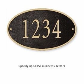 Salsbury 1330BGS Cast Aluminum Address Plaque