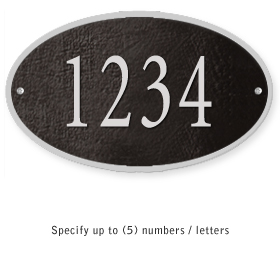 Salsbury 1330BSS Cast Aluminum Address Plaque