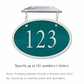 Salsbury 1335GSH Cast Aluminum Address Plaque