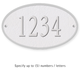 Salsbury 1330WSS Cast Aluminum Address Plaque