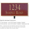 Salsbury 1311MGL Cast Aluminum Address Plaque