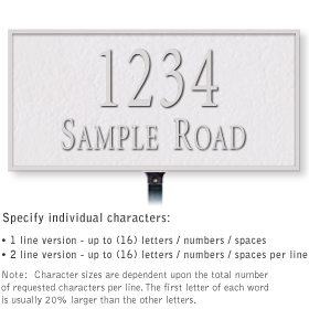Salsbury 1311WSL Cast Aluminum Address Plaque