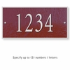 Salsbury 1310MSS Cast Aluminum Address Plaque