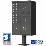 CBU Commercial Mailboxes - 8 Door with 4 Parcel Lockers - Bronze