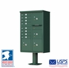 CBU Commercial Mailboxes - 8 Door with 4 Parcel Lockers - Green