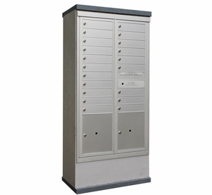 Outdoor Mailbox Kiosk - 20 Tenant Doors with 2 Parcel Lockers - USPS Approved