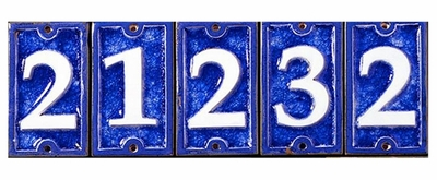 Ceramic/Glass Numbers