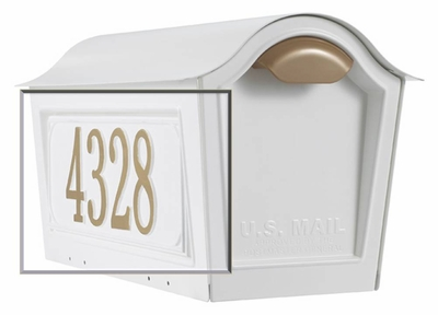 Whitehall Chalet Mailbox Personalized Side Plaque - French Bronze (need quantity of 2)