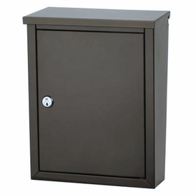 Chelsea Powder-Coated Steel Locking Wall-Mount Mailbox in Bronze