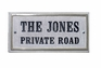 "Chesterfield Rectangle (15""x 7-1/2"") Crushed Stone Address Plaque with Engraved Text"