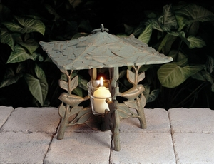 Whitehall Chickadee Twilight Lantern - French Bronze