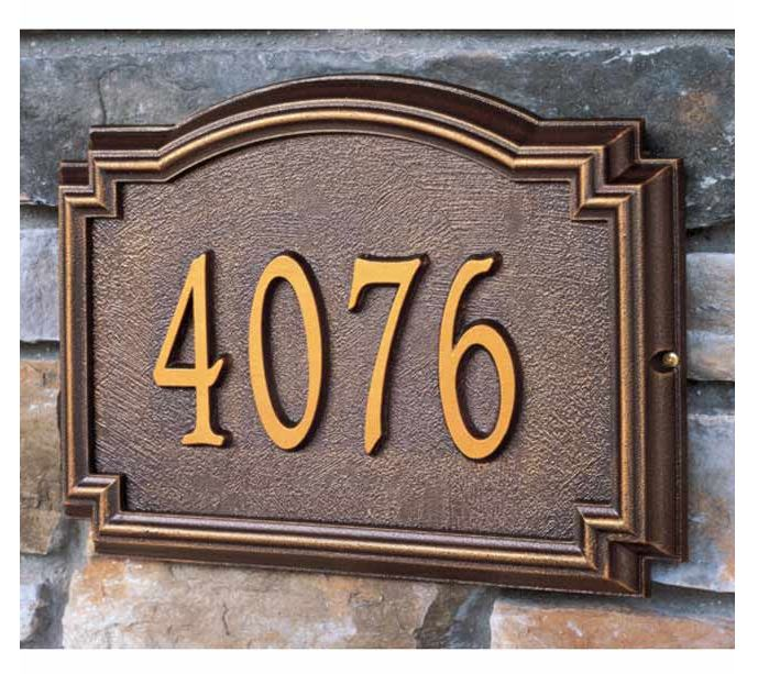 Whitehall products estate size williamsburg wall or lawn for Classic house number plaque