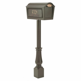 Whitehall Classic Chalet Mailbox Package  - Bronze