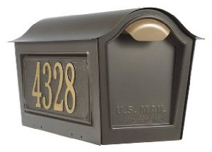 Whitehall Chalet Mailbox w/2 Side Plaques - Bronze