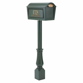 Whitehall Classic Chalet Mailbox Package  - Green