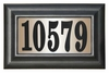 Edgewood Classic Lighted Address Plaque (Black Polymer Numbers on Black Frame)