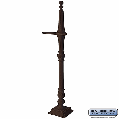 Salsbury 4891BRZ Classic Mailbox Post 1 Sided Bronze Finish