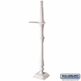 Salsbury 4891WHT Classic Mailbox Post 1 Sided White