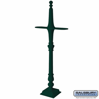 Salsbury 4892GRN Classic Mailbox Post 2 Sided Green