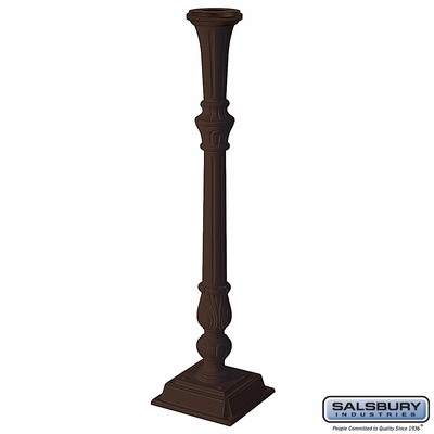 Salsbury 4890BRZ Classic Mailbox Post Bronze Finish