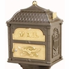 Classic Mailbox Top - Bronze with Polished Brass Accents