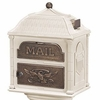 Classic Mailbox Top - Almond with Antique Bronze Accents