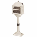 Classic Pedestal Mailbox Package - Almond with Antique Bronze