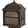 Classic Mailbox Top - Black with Antique Bronze Accentss