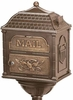 Classic Mailbox Top - Bronze with Antique Bronze Accents