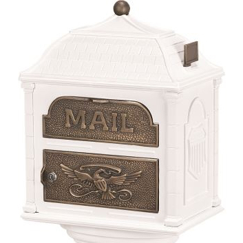 Classic Mailbox Top - White with Antique Bronze Accents