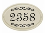Whitehall Classic Scroll Ceramic Oval - Standard Wall Plaque - One Line - Black
