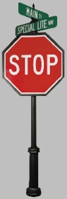 Classic Series #4 Directional Stop Sign