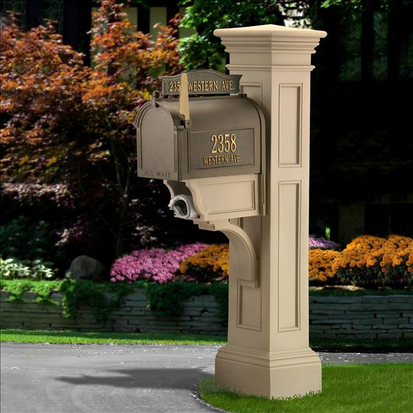 Liberty Mailbox Post In Clay
