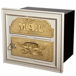Column Insert Mailboxes with Polished Brass Accents