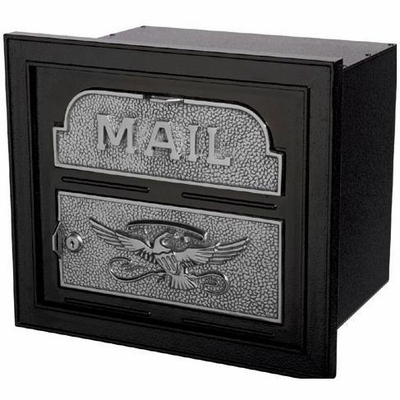 Column Insert Mailboxes - Black with Satin Nickel Accents