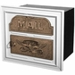 Column Insert Mailboxes - White with Antique Bronze Accents