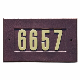 Manchester Address Plate with 3-inch Brass Numbers (included) in Antique Copper