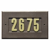 Manchester Address Plate with 3-inch Brass Numbers (included) in Bronze