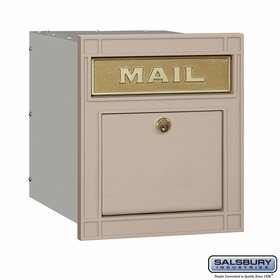 Salsbury 4145P-BGE Column Mailbox Locking Beige Plain Door