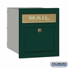 Salsbury 4145P-GRN Column Mailbox Locking Green Plain Door