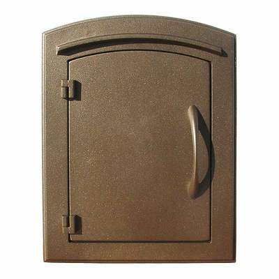 Manchester Non-Locking Column Mount Mailbox with Plain Door in Bronze