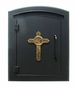 Manchester Cross Emblem Column Mount Mailboxes