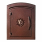 Manchester Non-Locking Column Mount Mailbox with Agave Emblem in Antique Copper