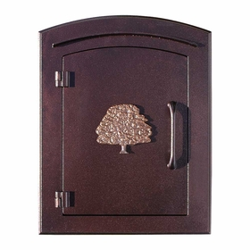 Manchester Oak Tree Emblem Column Mount Mailboxes