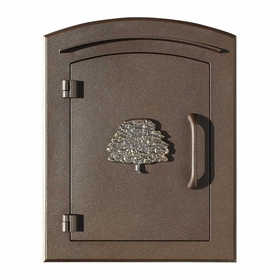Manchester Non-Locking Column Mount Mailbox with Oak Tree Emblem in Bronze