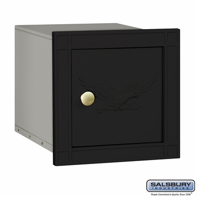 Salsbury 4140E-BLK Column Mounted Mailbox With Eagle Without Slot In Black