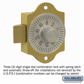 Salsbury 2286 Combination Lock For Aluminum Mailboxes