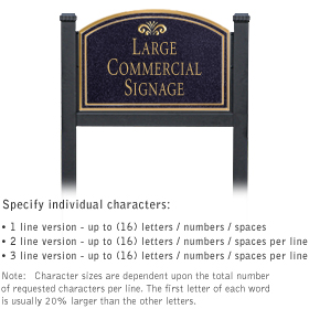 Professional Lawn Plaques - Arched 1-Sided - Fountain Emblem