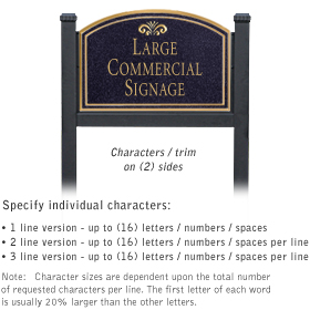 Professional Lawn Plaques - Arched 2-Sided - Fountain Emblem